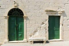 Zwei alte Türen Lizenzfreie Stockfotografie