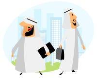 Zwei arabische Geschäftsmänner Lizenzfreie Stockfotos