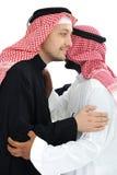 Zwei arabische Männer, die warmes haben Lizenzfreie Stockfotografie
