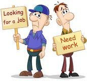 Zwei Arbeitslose stock abbildung