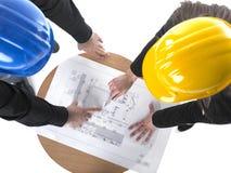 Zwei arhitects Treffen Stockbild