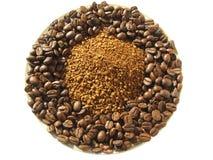 Zwei Arten Kaffee Stockbilder