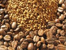 Zwei Arten Kaffee Lizenzfreies Stockfoto