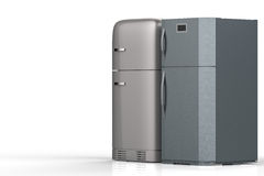 Zwei Artkühlschränke stockfoto