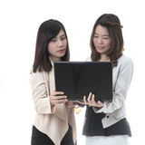 Zwei asiatische businese lizenzfreies stockbild