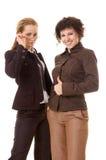 Zwei attraktive Geschäftsfrauen Lizenzfreies Stockfoto