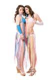 Zwei attraktive junge Frauen. Getrennt Stockbilder