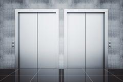 Zwei Aufzüge Lizenzfreies Stockfoto