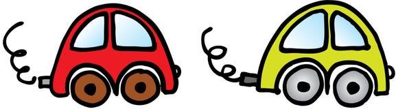 Zwei Autos lizenzfreie abbildung