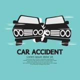 Zwei Autos in einem Unfall Lizenzfreie Stockfotografie