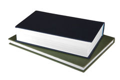 Zwei Bücher auf weißem Hintergrund Lizenzfreie Stockfotos