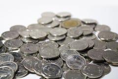 Zwei Bahtmünzen Lizenzfreies Stockbild