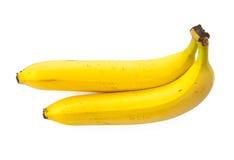 Zwei Bananen auf einem weißen Hintergrund, getrennt Lizenzfreie Stockfotografie