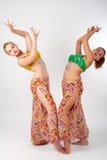 Zwei Bauchtänzerinnen lizenzfreies stockbild