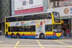 Zwei-berühmter Shuttlebus lizenzfreie stockfotografie