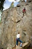 Zwei Bergsteiger Lizenzfreie Stockfotos