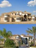 Zwei Bilder des Aufbaus Lizenzfreie Stockbilder