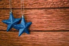 Zwei blaue Sterne Lizenzfreie Stockfotos
