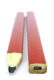 Zwei Bleistifte des carpente Lizenzfreie Stockfotografie