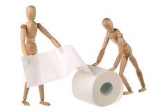 Zwei blindes und Toilettenpapier Stockfotos