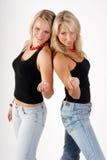 Zwei blonde Baumuster Stockfotografie