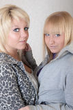 Zwei blonde Freunde Stockbilder