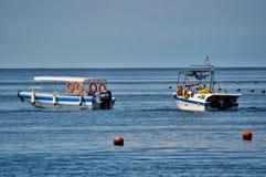 Zwei Boote bereit zu gehen Stockbilder