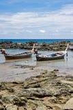 Zwei Boote in der Falle Stockbild