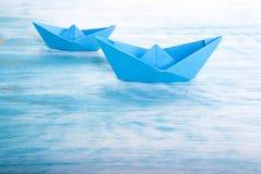 Zwei Boote im Meer Lizenzfreies Stockbild