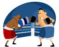 Zwei Boxer auf dem Ring Lizenzfreies Stockfoto