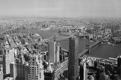Zwei Brücken, New York Stockfotografie