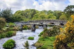 Zwei Brücken Princetown, England Stockbild