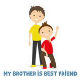 Zwei Brüder zusammen vektor abbildung