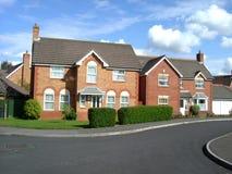 Zwei britische Häuser Stockbild