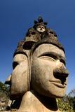 Zwei Buddhas Gesicht - Buddha-Park, Vientiane. Laos Stockfotos