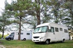 Zwei Camper Lizenzfreies Stockbild