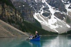 Zwei canoers Stockfotografie