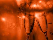 Zwei Champagne-Gläser Lizenzfreies Stockfoto