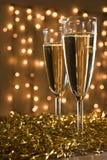 Zwei Champagnerflöten. Lizenzfreies Stockfoto