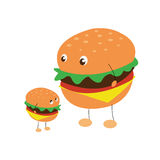 Zwei Charaktere von Hamburgern Lizenzfreie Stockbilder