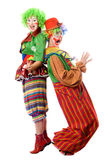 Zwei Clowne sind zurück zu Rückseite Lizenzfreie Stockfotos