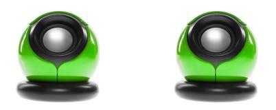 Zwei Computerlautsprecher Stockfoto