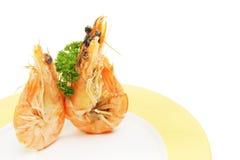 Zwei crevette Garnelen Stockfotos