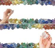 Zwei Crystal Healing Website Banners Stockbild