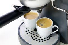 Zwei Cup Espresso Stockfoto