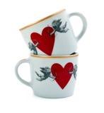 Zwei Cup mit Innersymbol Stockfoto