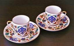 Zwei Cup und Saucers Stockbild