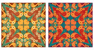 Zwei dekorative Hintergründe Lizenzfreie Stockfotografie
