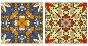 Zwei dekorative Hintergründe Stockfoto