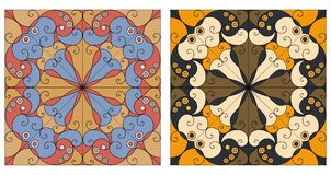 Zwei dekorative Hintergründe Stockfotos